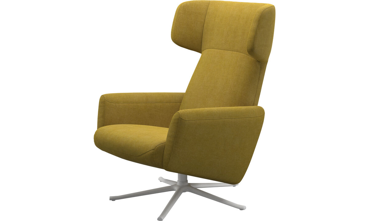Recliners - Lucca wing recliner with swivel function - Yellow - Fabric