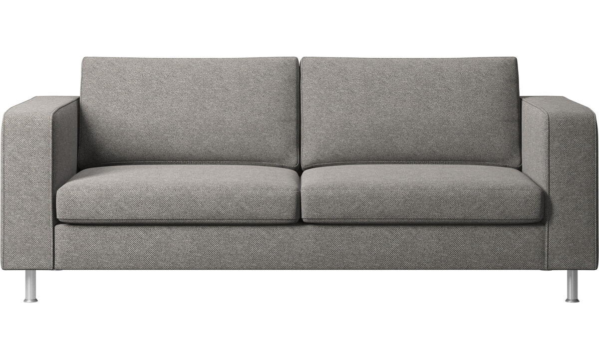 2.5 seater sofas - Indivi 2 sofa - Gray - Fabric