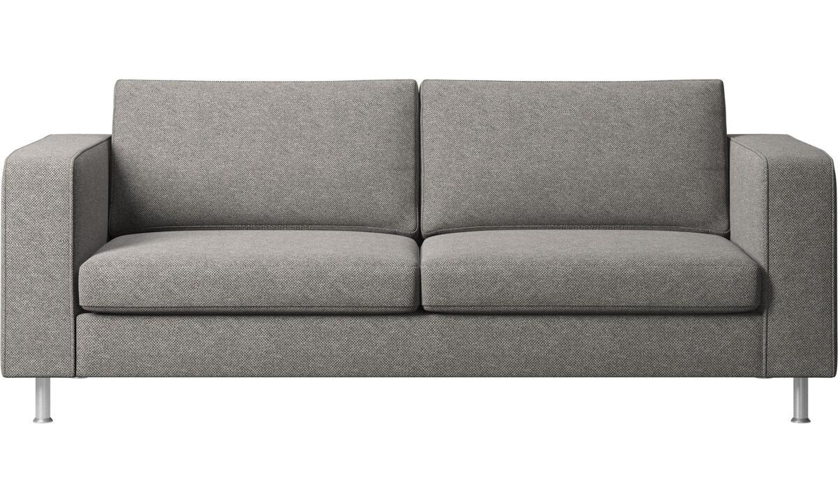 Sofás de 2 plazas y media - sofá Indivi 2 - En gris - Tela