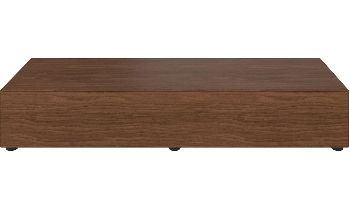 Tv units - Lugano base cabinet with drawer - Brown - Walnut