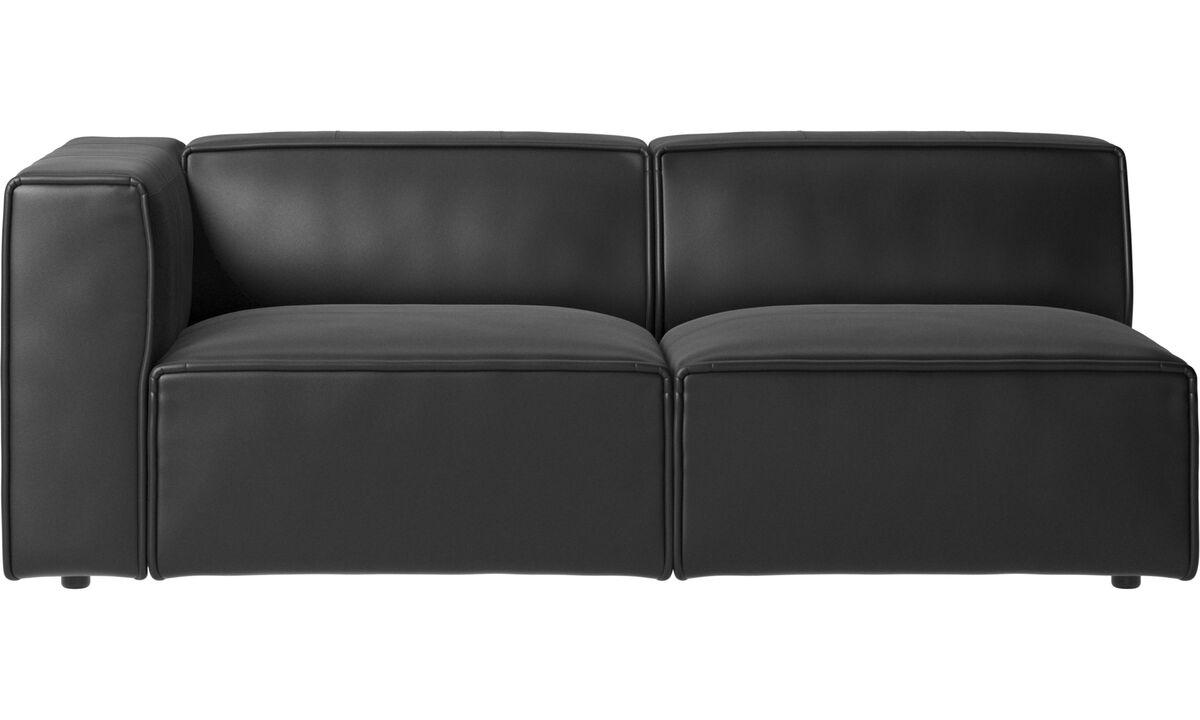 2.5 seater sofas - Carmo sofa - Black - Leather