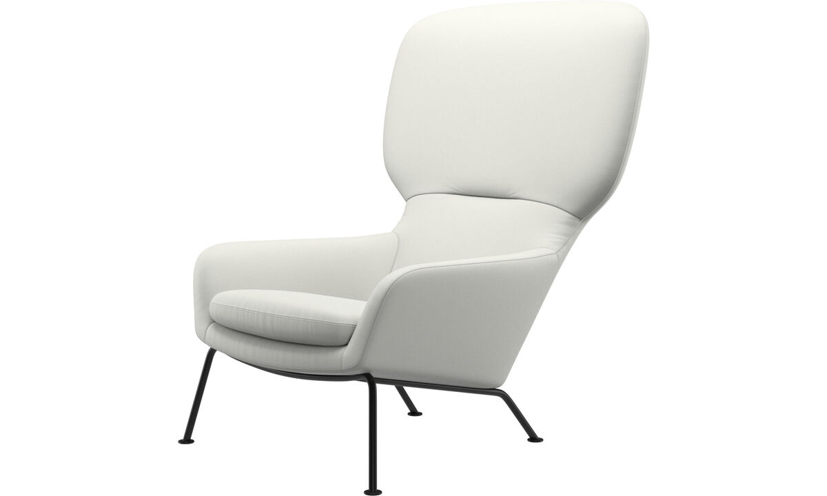 Armchairs - Dublin chair - White - Leather