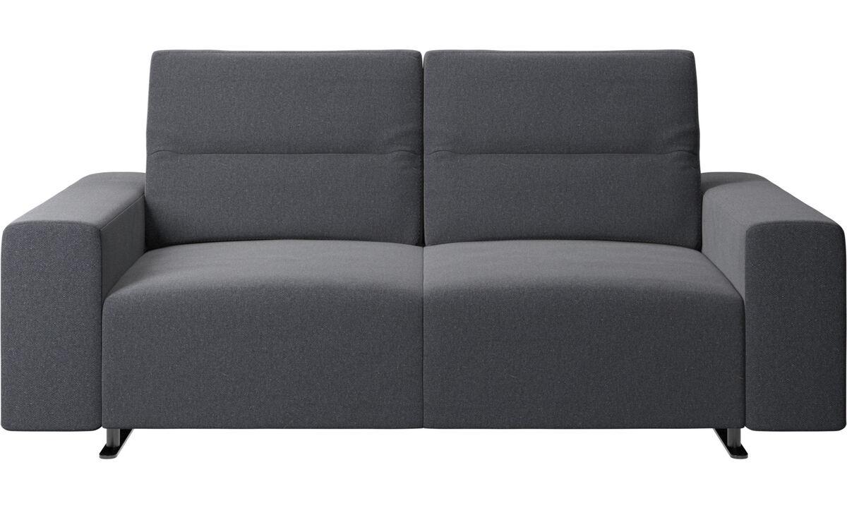 2-sitzer Sofas - Hampton Sofa mit verstellbarer Rückenlehne - Grau - Stoff