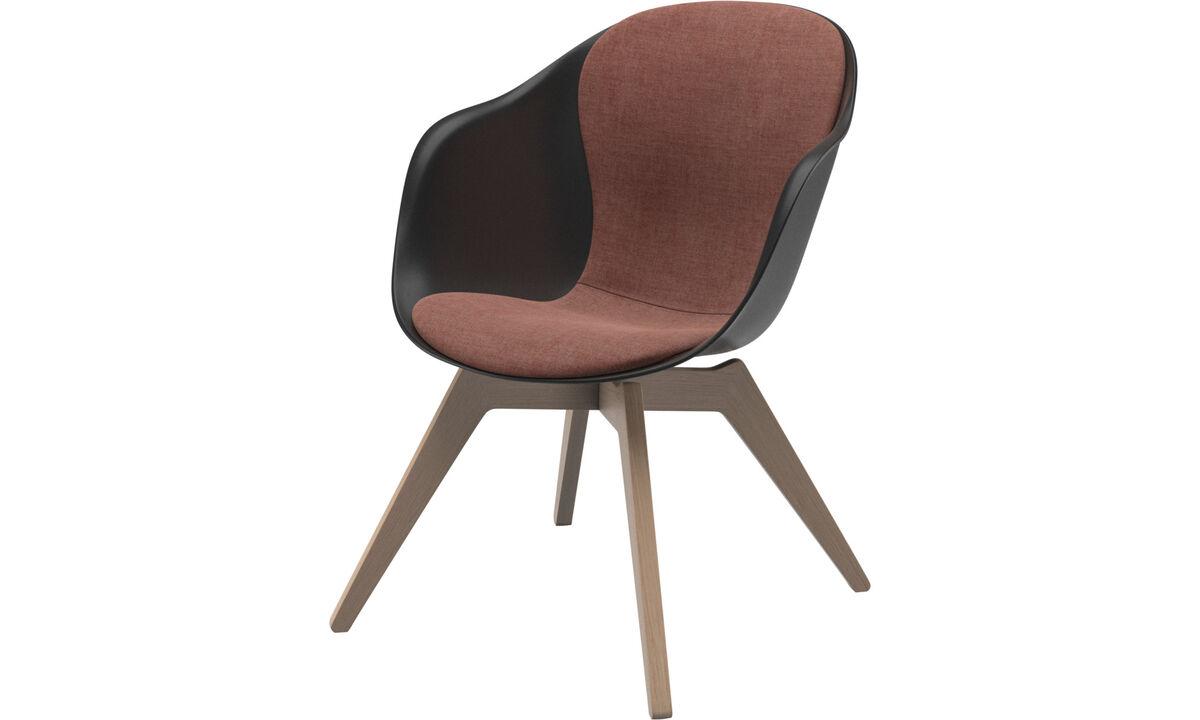 Poltronas - Cadeira lounge Adelaide - Vermelho - Tecido