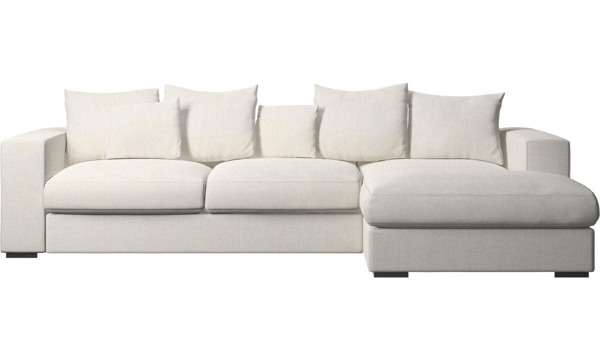 Chaise lounge sofas - Cenova sofa with resting unit - White - Fabric