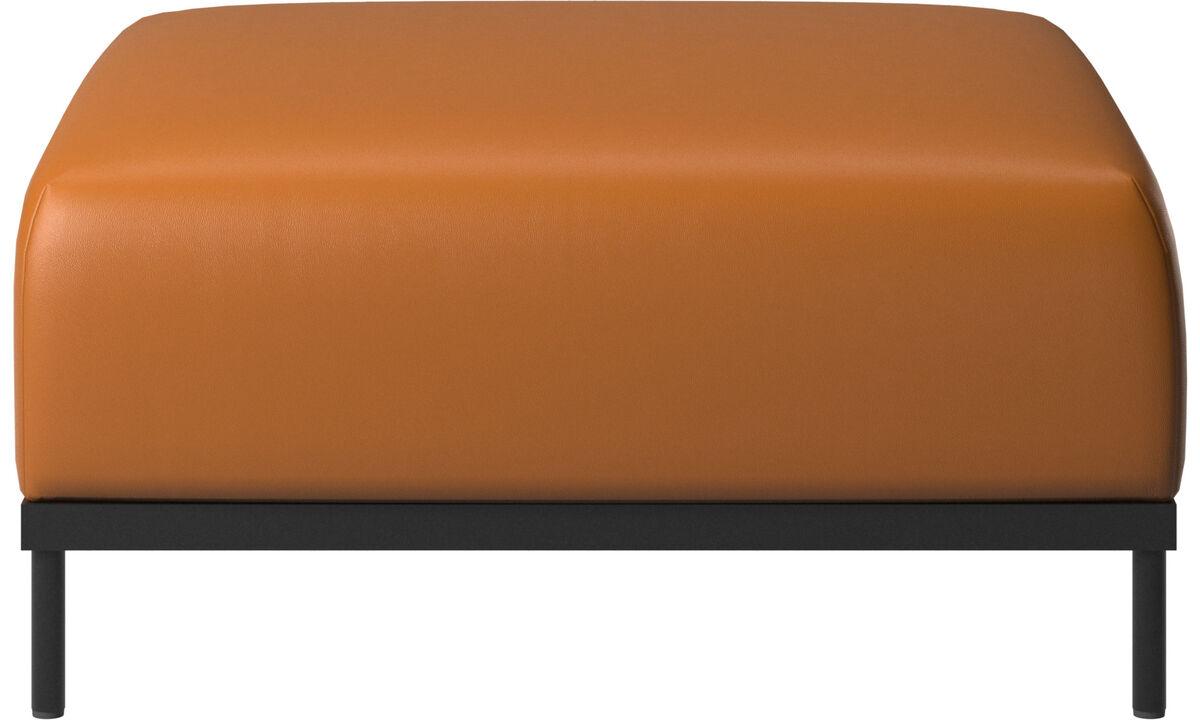 Footstools - Atlanta footstool - Brown - Leather