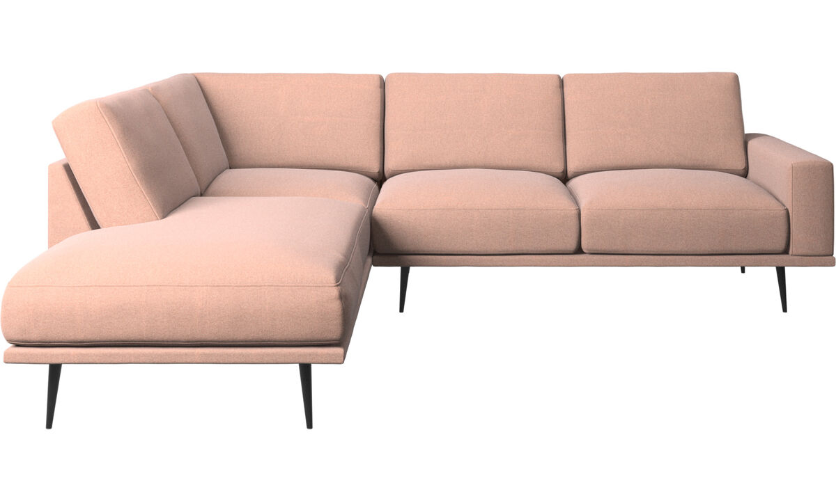 Sofas with open end - Carlton sofa with lounging units - Red - Fabric