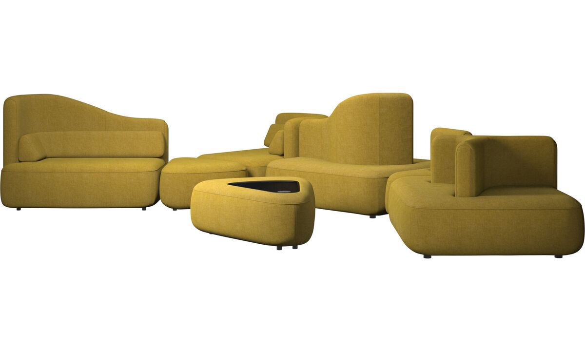 Modular sofas - Ottawa sofa - Yellow - Fabric