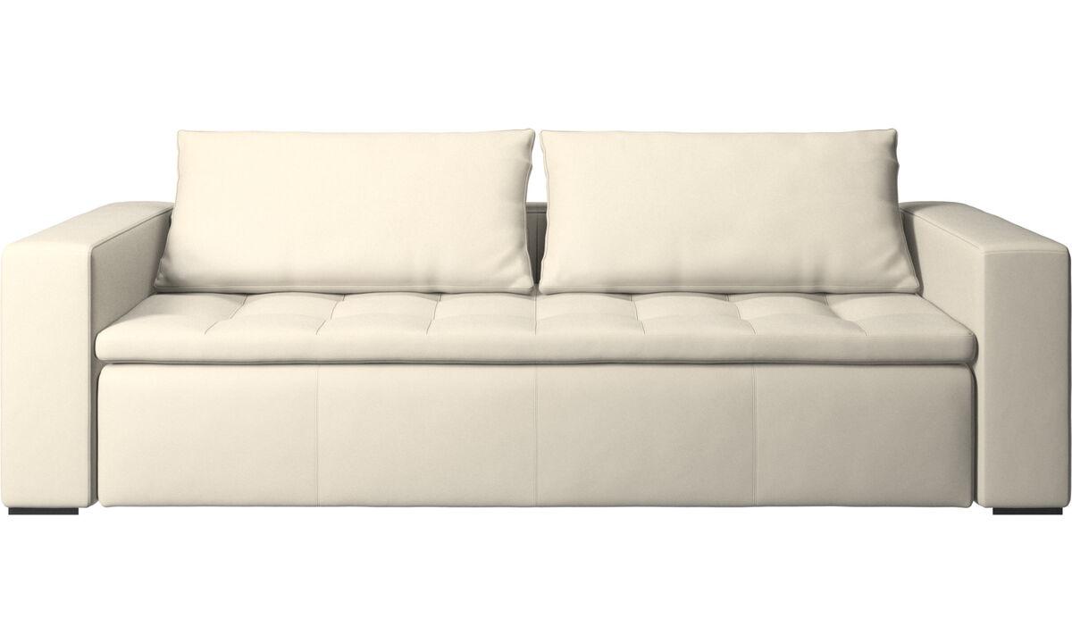 3 seater sofas - Mezzo sofa - White - Leather