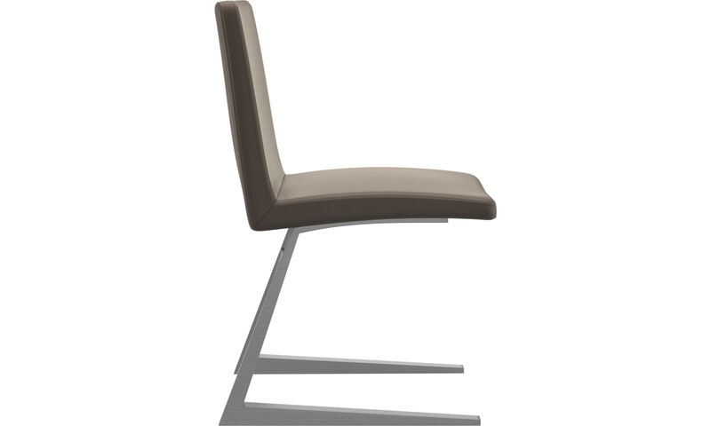 d25f4fcdf912 ... Dining chairs - Mariposa Deluxe chair - Grey - Leather ...