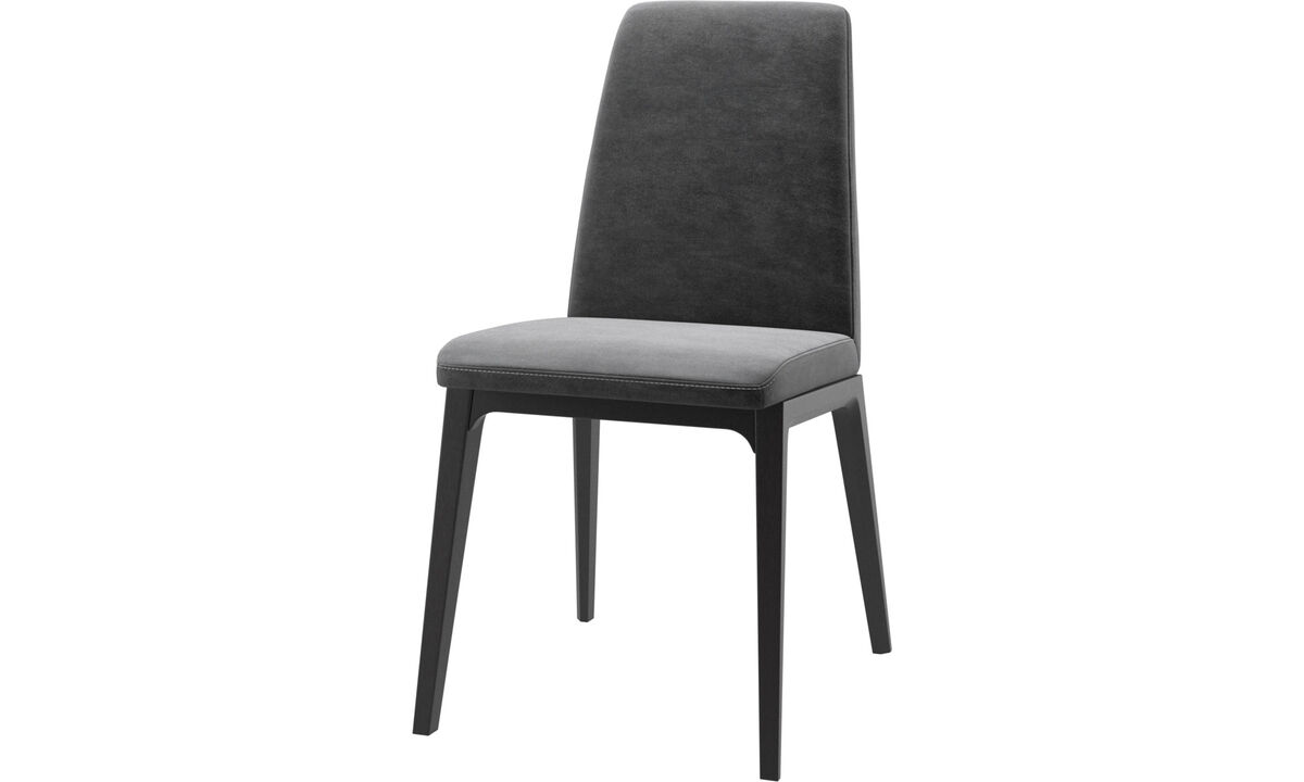 Dining chairs - Lausanne chair - Grey - Fabric