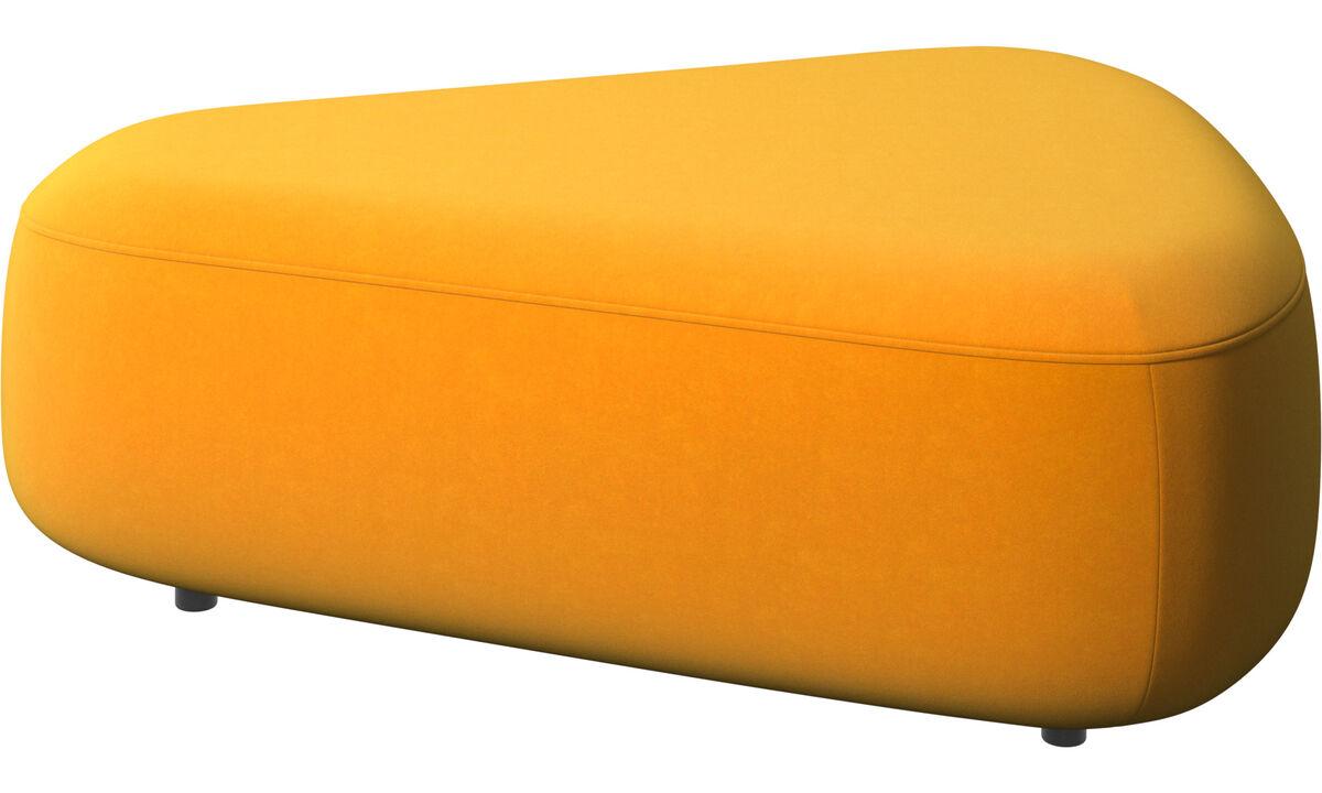 Footstools - Ottawa triangular pouf - Orange - Fabric