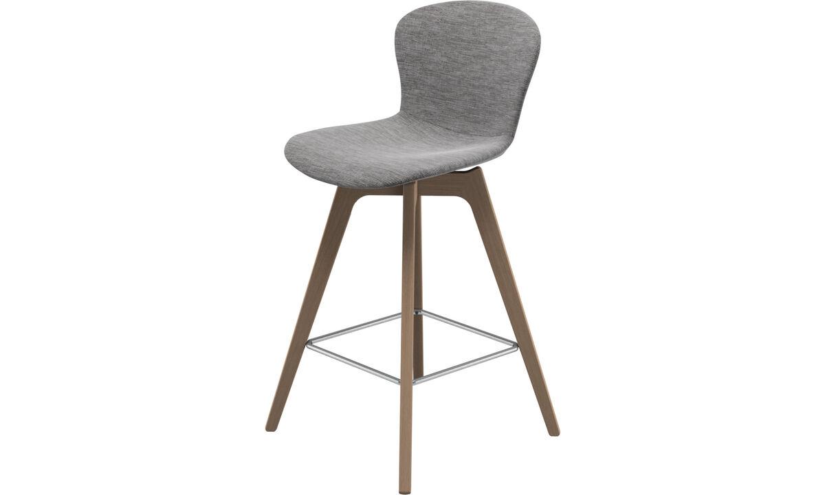 Tabourets de bar - chaise de bar Adelaide - Gris - Tissu