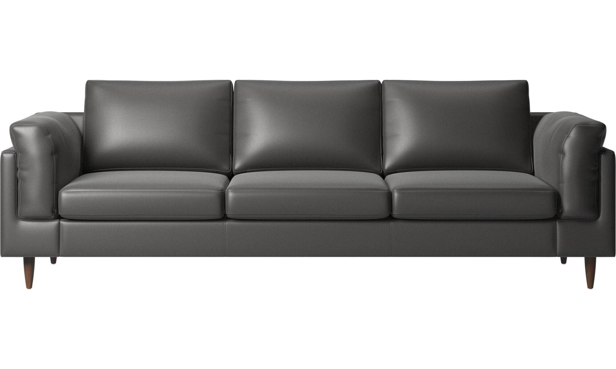 3 Seater Sofas   Indivi 2 Sofa   Gray   Leather