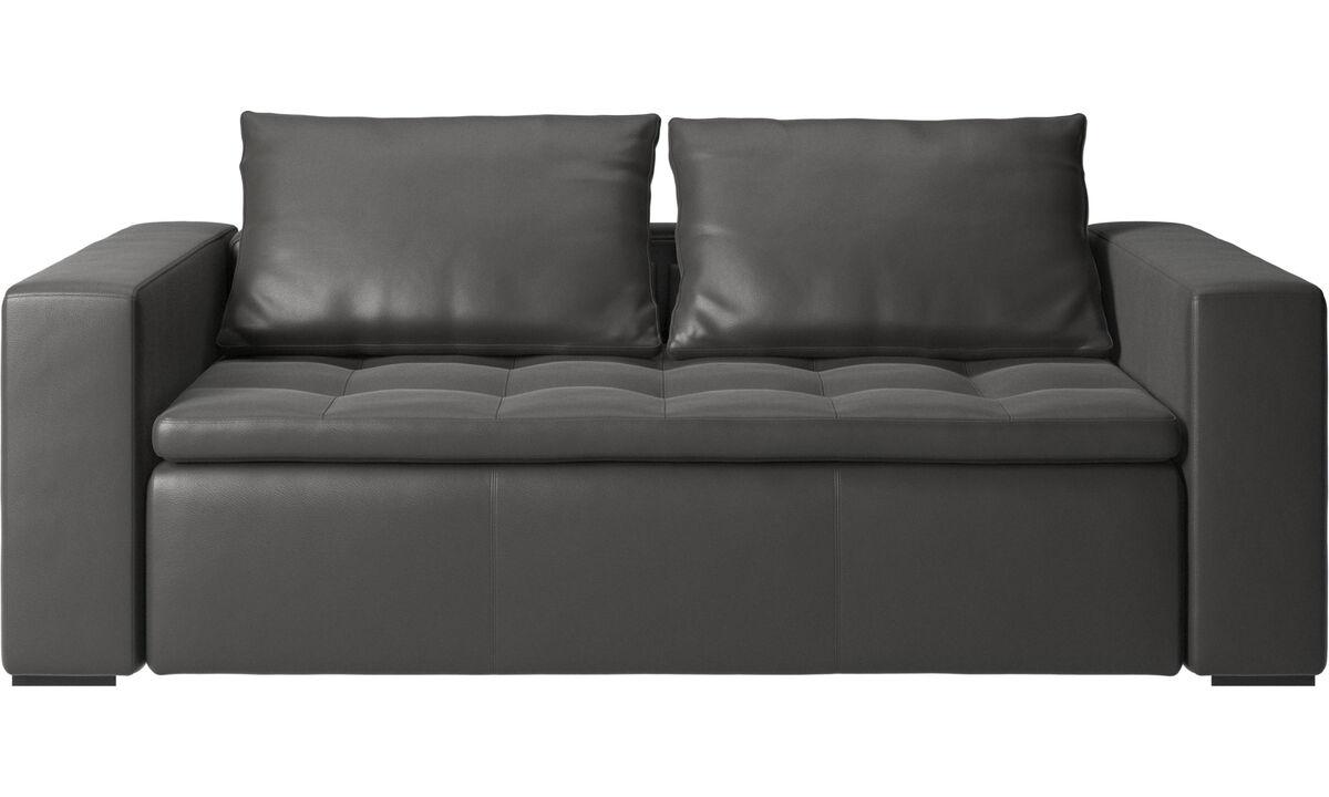 Sofás de 2 plazas y media - sofá Mezzo - En gris - Piel