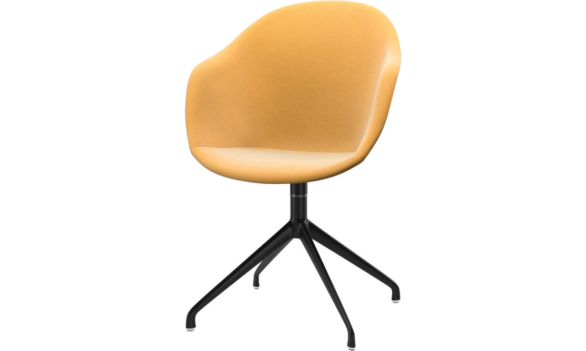 Dining chairs - Adelaide chair with swivel function - Yellow - Fabric