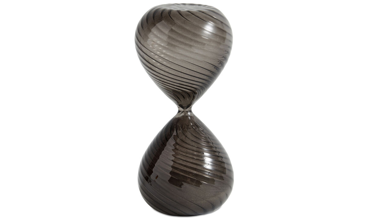 Decoration - Swirl hourglass - Grey - Glass