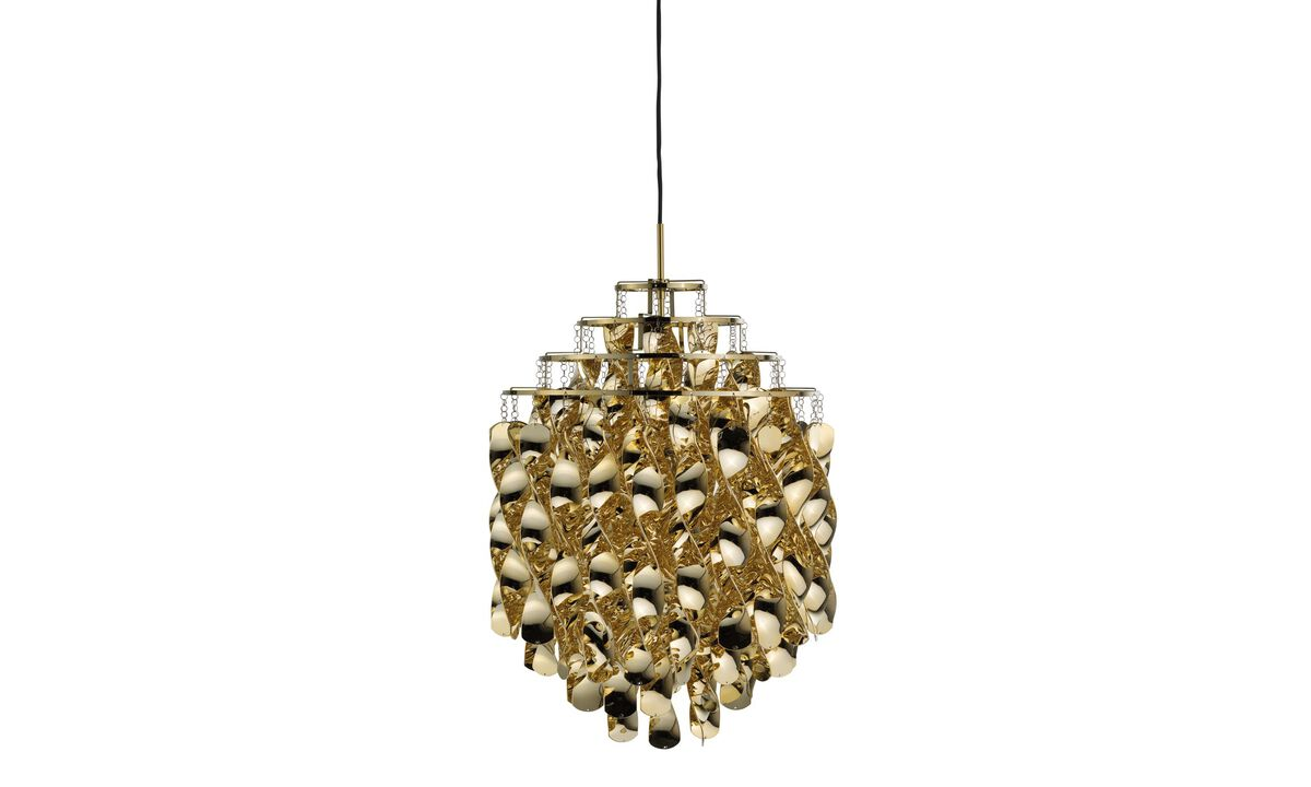 Lamps - Spiral SP01 pendant - Yellow - Metal