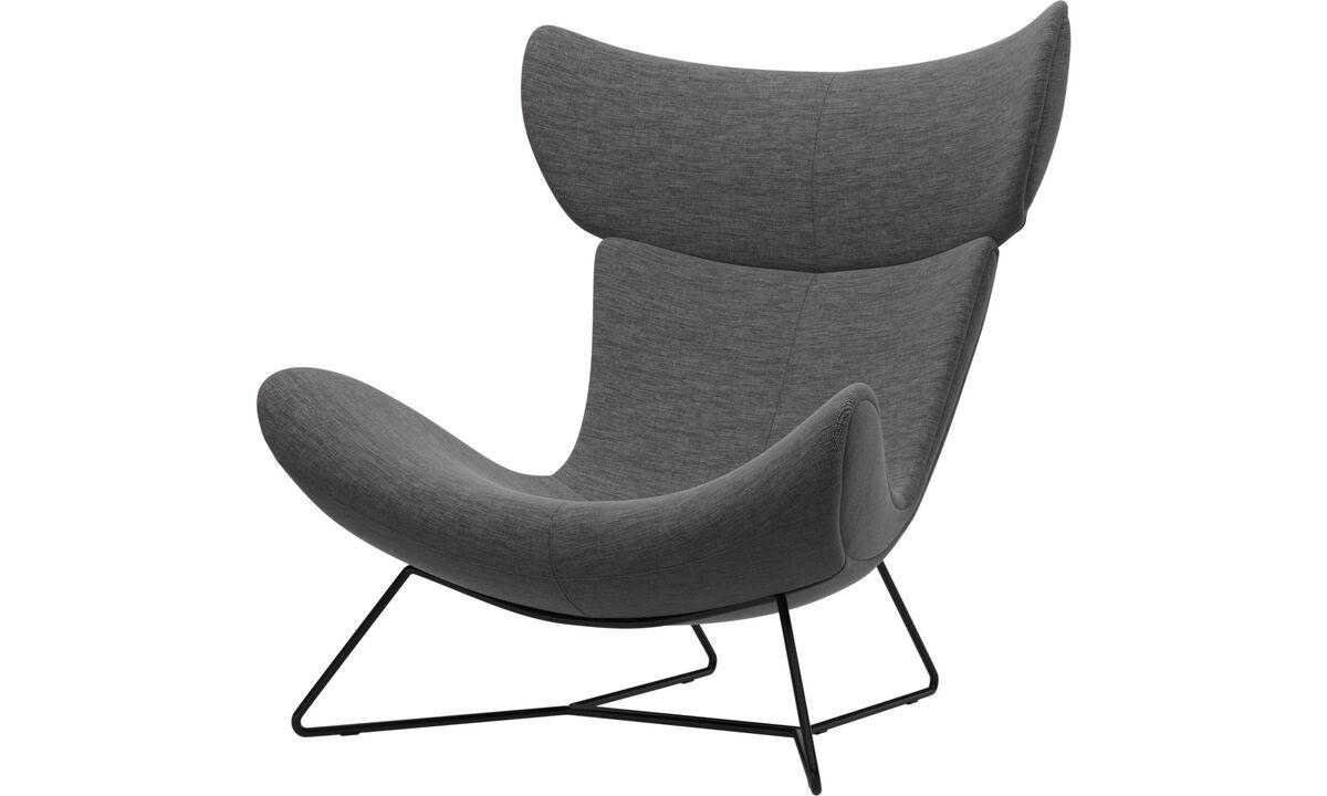 Armchairs - Imola chair - Grey - Fabric