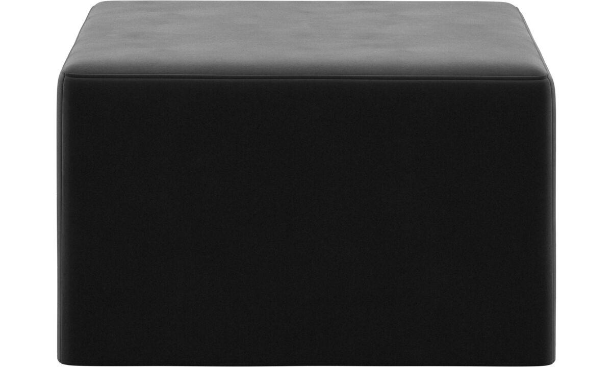 Footstools - Xtra footstool with sleeping function - Black - Fabric