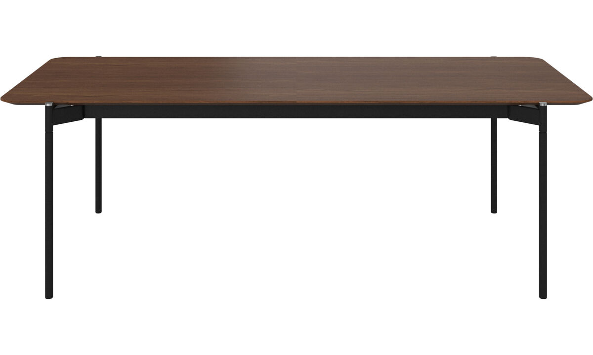 Dining tables - Augusta table with supplementary tabletop - rectangular - Brown - Walnut