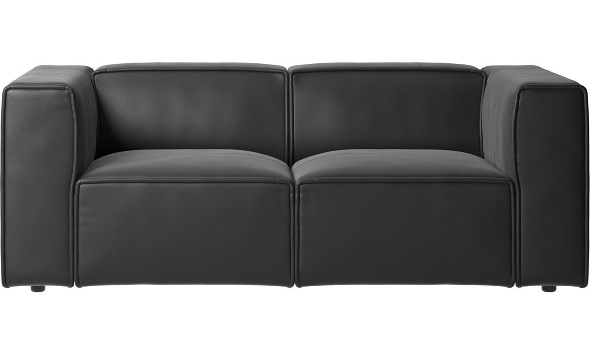 Modular sofas - Carmo sofa - Black - Leather