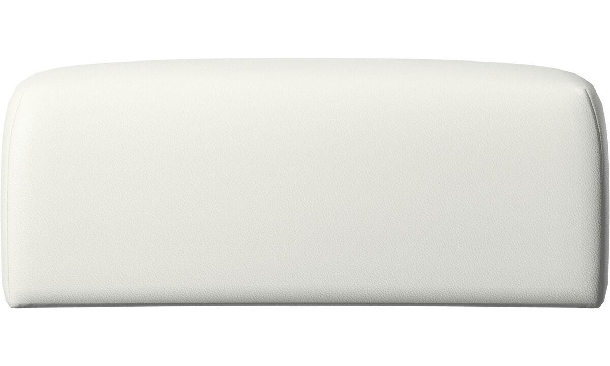 Accesorios para muebles - Cojin de respaldar Atlanta - Blanco - Piel