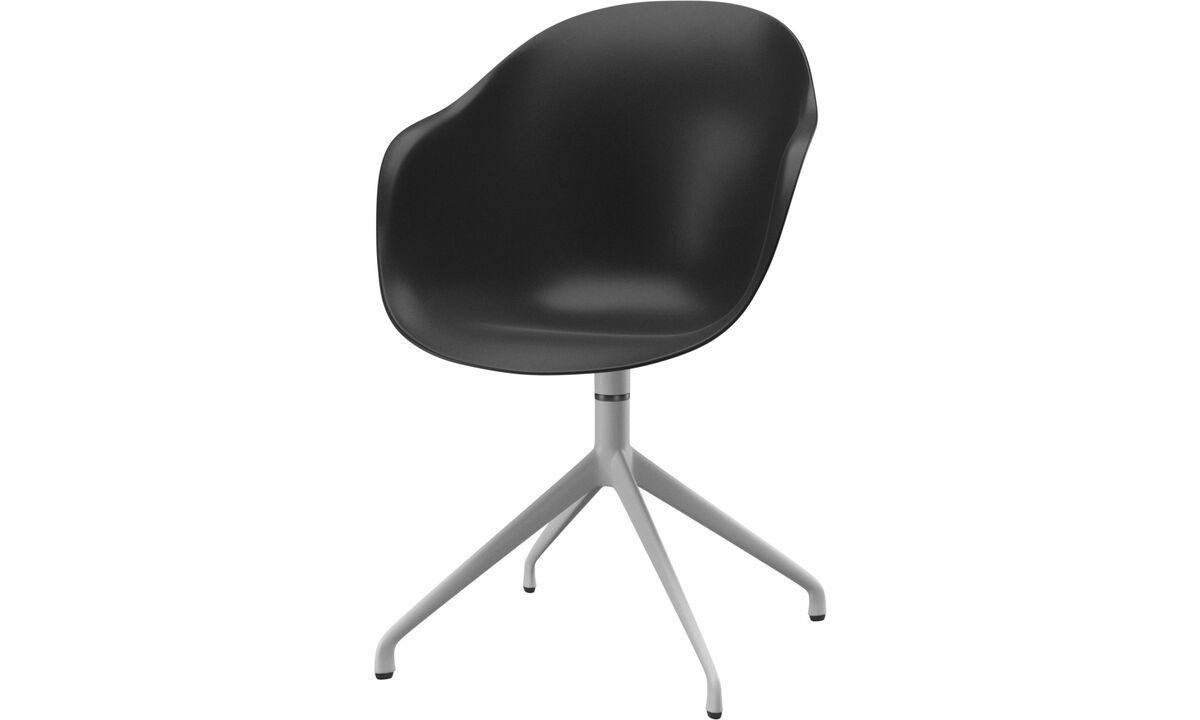 Dining chairs - Adelaide chair with swivel function - Black - Lacquered