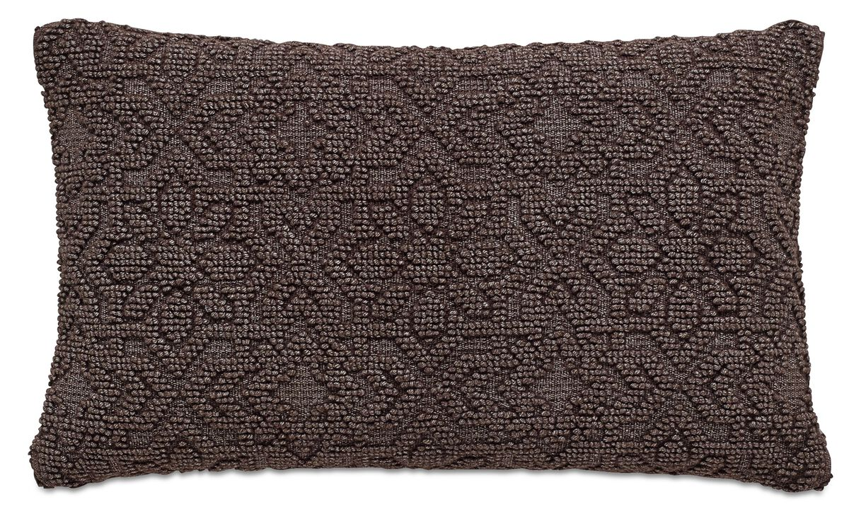 Cushions - Brocade cushion - Brown - Fabric