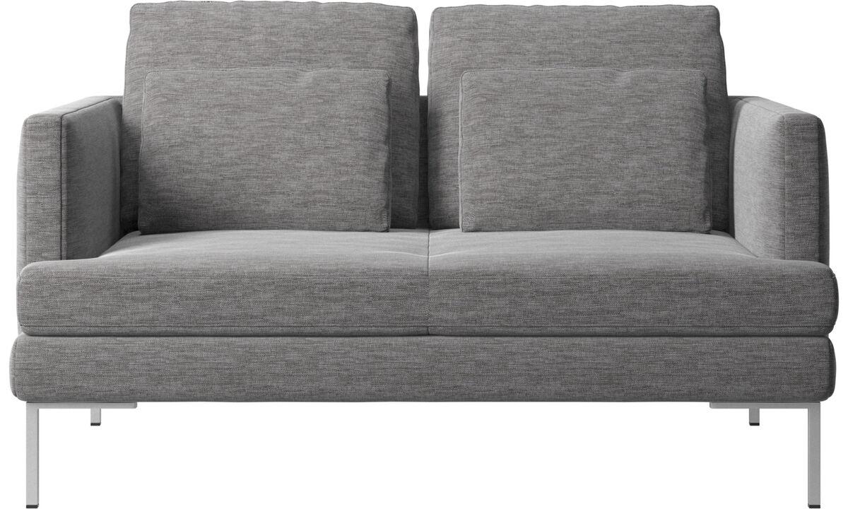 2 seater sofas - Istra 2 sofa - Grey - Fabric