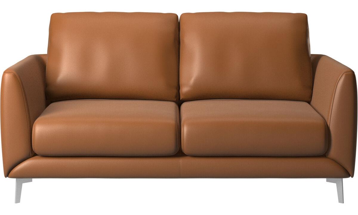 2 θέσιοι καναπέδες - Καναπές Fargo - Καφέ - Δέρμα