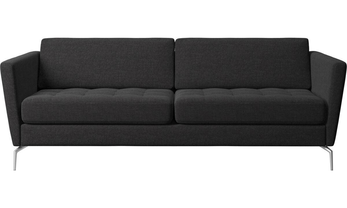 Két és félszemélyes kanapék - Osaka kanapé, tűzött felületű ülőpárna - Fekete - Huzat