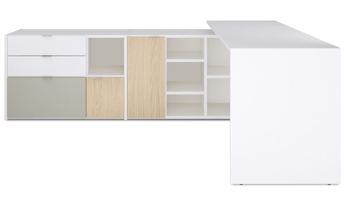 Desks - Copenhagen office system - White - Lacquered