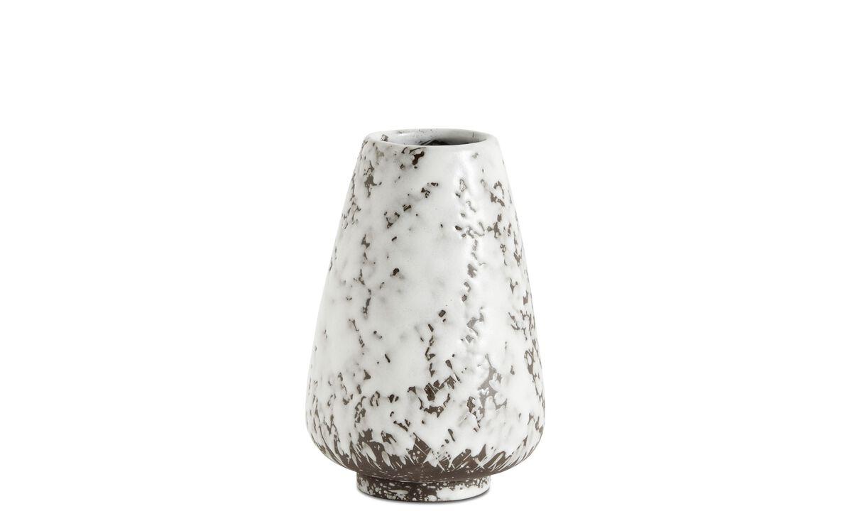 Vázy - Váza Icing - Bílá - Kámen