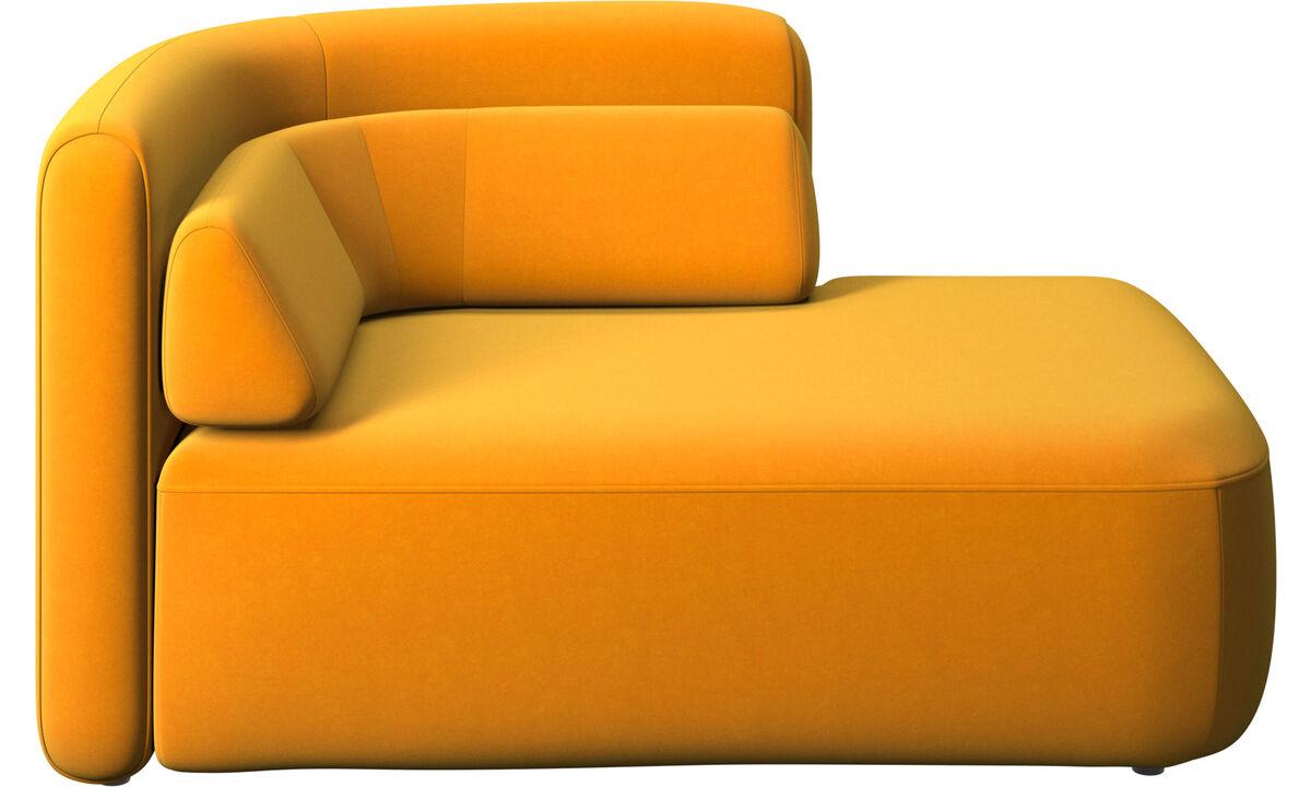 Modulárne sedačky - 1,5 sed Ottawa, otvorená pravá strana - Pomarančová - Látka