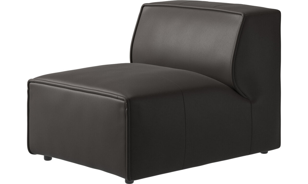 Modular sofas - Carmo chair/basic unit - Brown - Leather