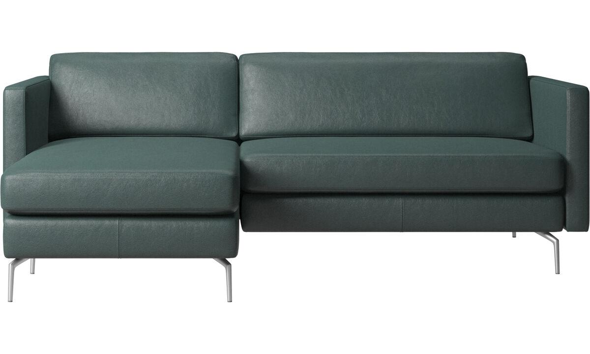 Chaise longue sofas - Osaka sofa with resting unit, regular seat - Green - Fabric