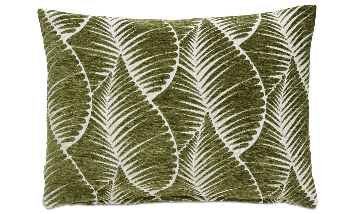Patterned cushions - Leaf cushion - Green - Fabric