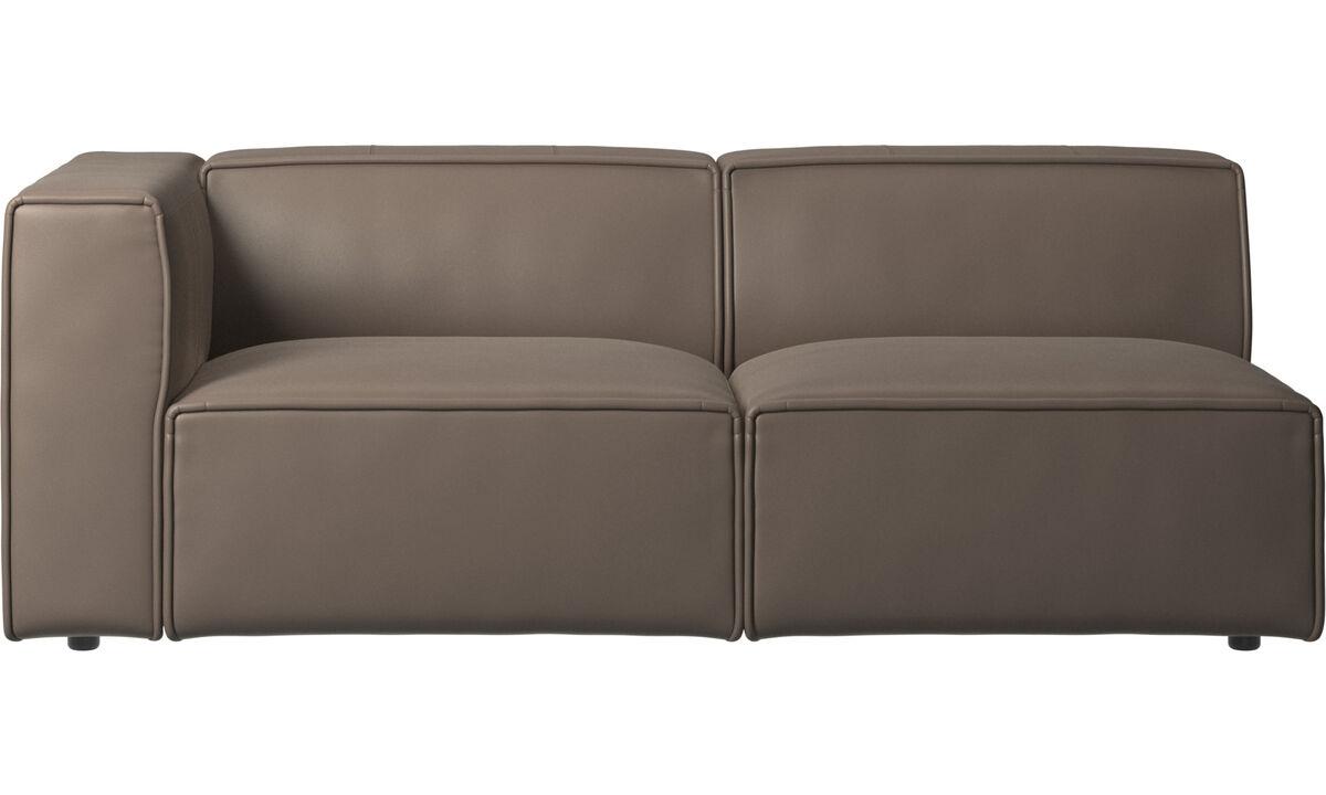 Sofás de 2 plazas y media - Sofá Carmo - En gris - Piel