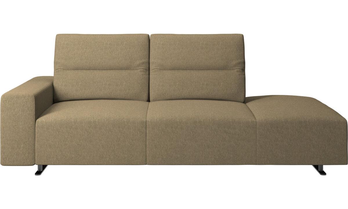 Sofas with open end - Divano Hampton con schienale regolabile e modulo relax sul lato destro, bracciolo a sinistra - Verde - Tessuto