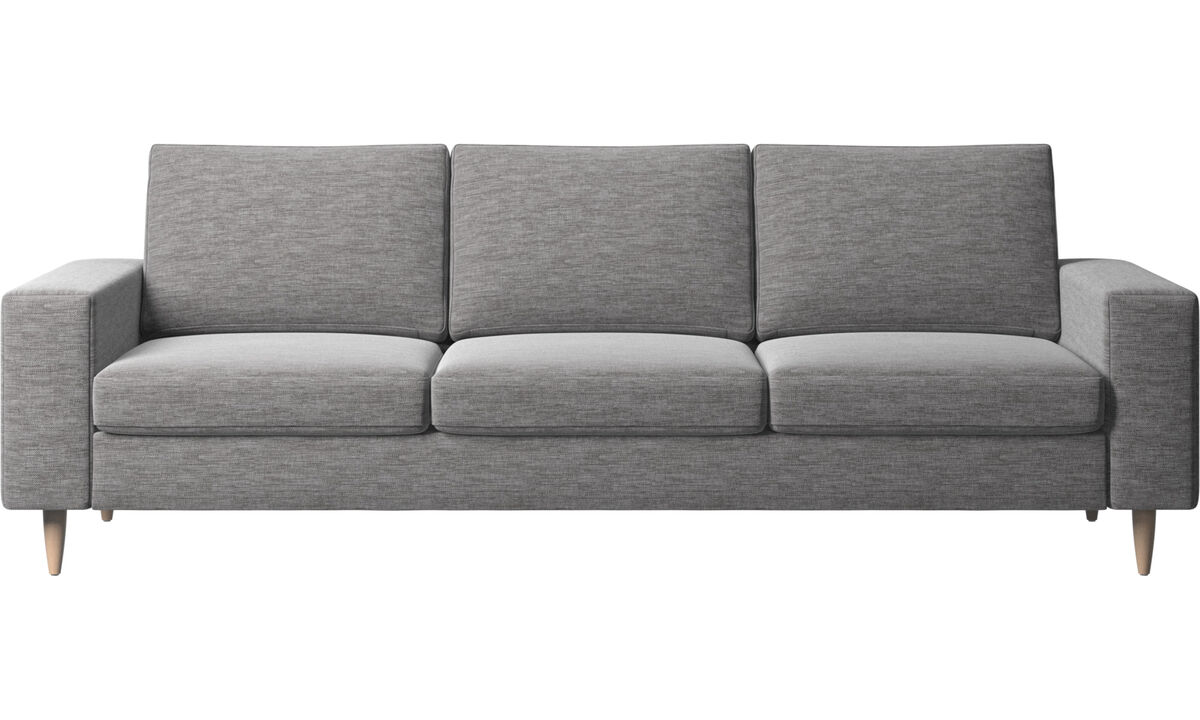 3 seater sofas - Indivi 2 sofa - Gray - Fabric