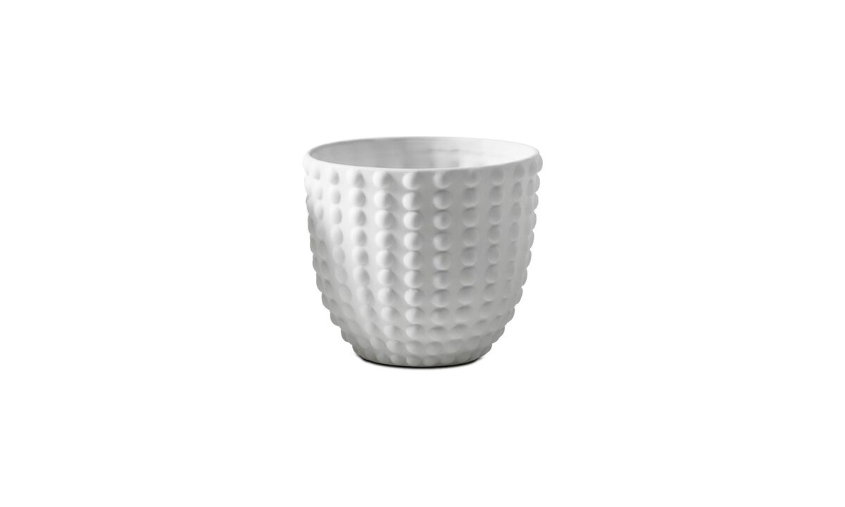 Candle holders - 3D structure tealight holder, Spike - White - Ceramic