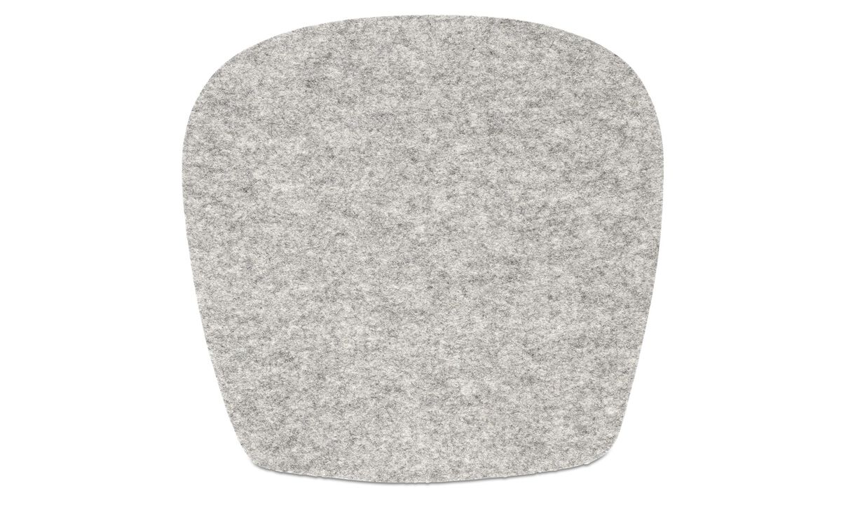 Dining chairs - Morgan seat cushion - Grey - Fabric