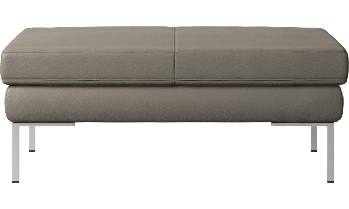 软垫凳 - Istra 2 脚凳 - 灰色 - 革