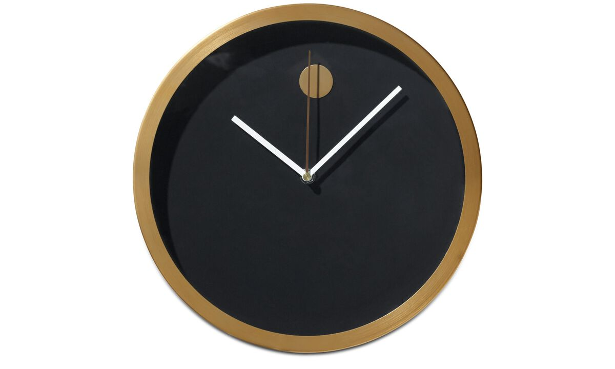 Decoration - Refine wall clock - Orange - Metal