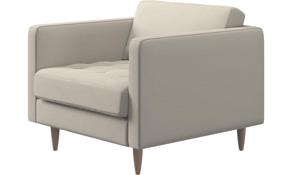 Nuevos diseños - Butaca Osaka, asiento en capitoné - Blanco - Tela