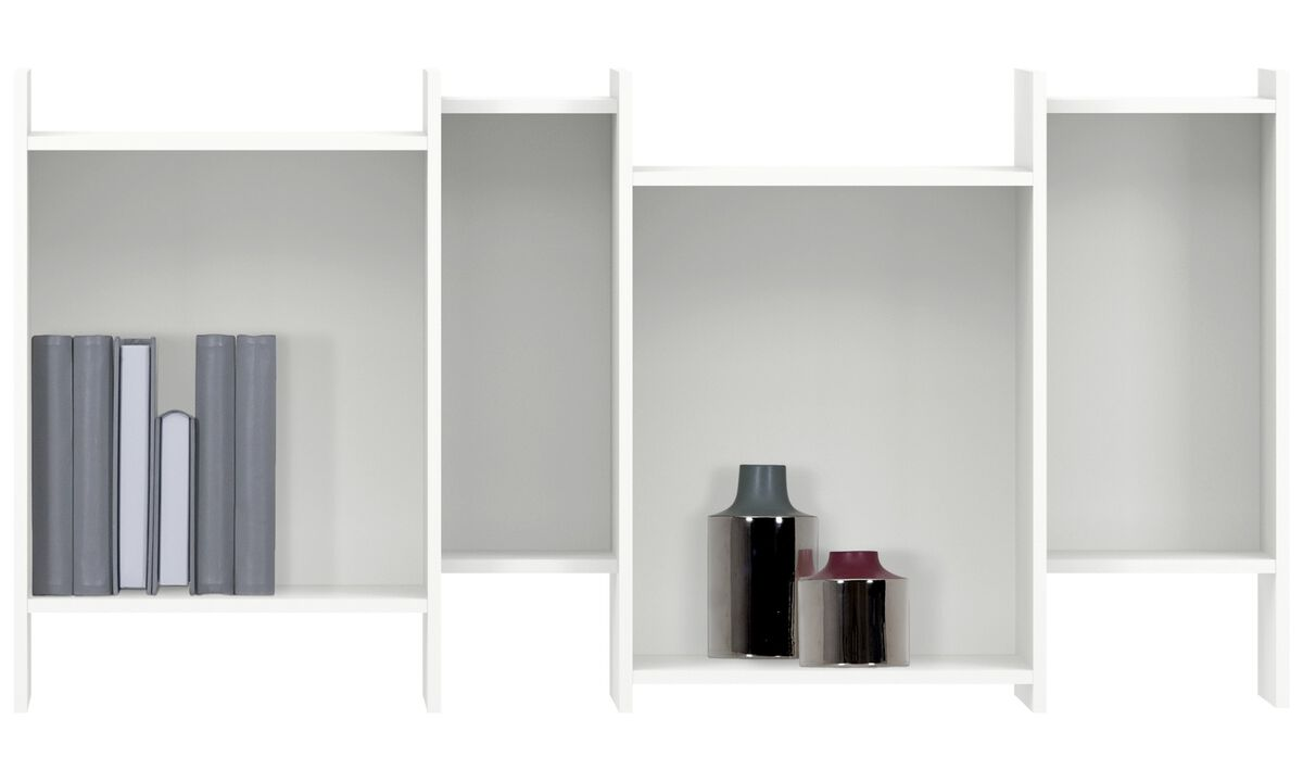 Wall systems - Como bookcase - White - Lacquered