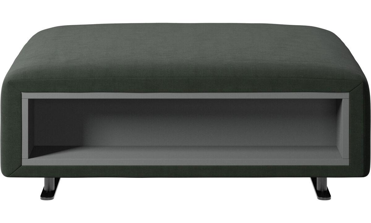 Пуфики - пуф Hampton с системой хранения, левая и правая стороны - Зеленый - Tкань