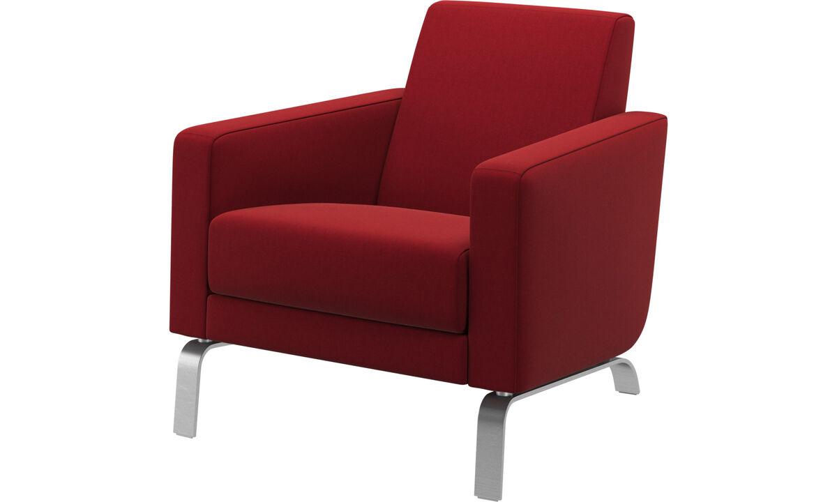 Lænestole - Fly stol - Rød - Stof