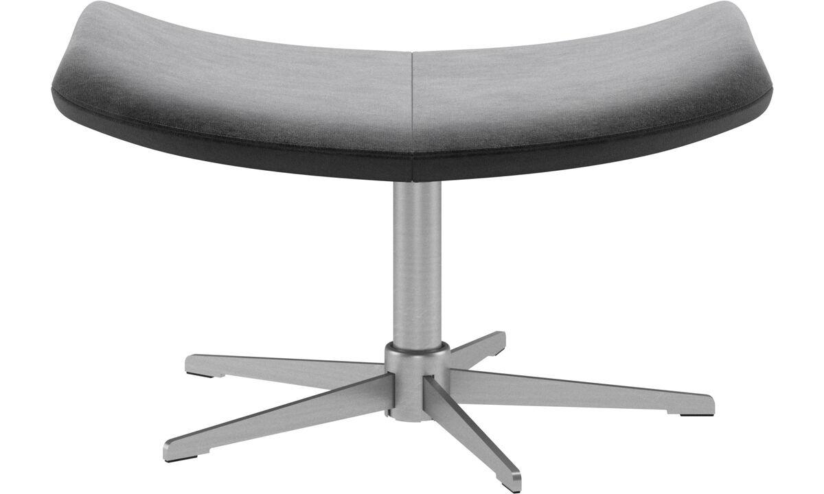 Footstools - Imola footstool - Grey - Fabric